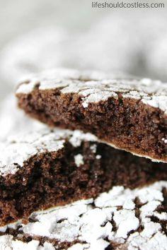 Spicy Chocolate Crinkle Cookies - Life Should Cost Less Chocolate Crinkle Cookies, Chocolate Crinkles, Chocolate Coating, Mexican Hot Chocolate, Decadent Chocolate, Vegetarian Chocolate, Crinkles Recipe, Cocoa Cinnamon, Yummy Cookies