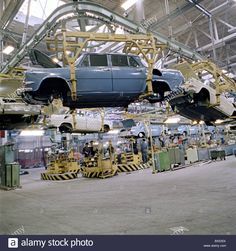 Skoda auto plant assembly line in Mlada Boleslav, Czechoslovakia (CTK Photo / Karel Mevald) Assembly Line, Love Car, Old Pictures, Sport Cars, Budapest, Cars And Motorcycles, Techno, Garage, Type