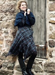 a modern take on a kilt, available in any tartan-- gorgeous!