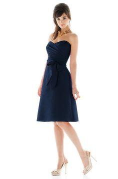 Alfred Sung D437 Bridesmaid Dress | Weddington Way Midnight