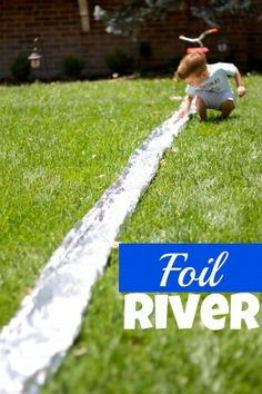 Water Play - A Foil River from I Can Teach My Child