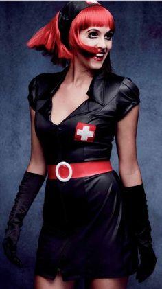 Disfraz de enfermera negro para mujer #Costume #Halloween