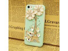 3D Eiffel Tower IPhone 5C Case - Mint Green