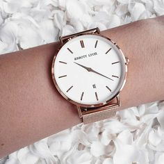 BuyAbbott Lyon Unisex Rose Gold Mesh Bracelet Strap Watch, Rose Gold/White Online at johnlewis.com