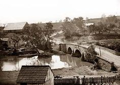 Antietam, Maryland. Antietam bridge, looking across stream.