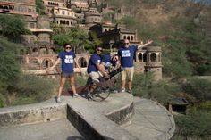 Showing Cvent pride in India on a business trip near the Neemrana Fort.— at Neemrana Fort.