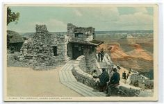 The Lookout Grand Canyon Arizona Fred Harvey 1910c postcard