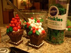 Mini gingerbread planter boxes for gingerbread house 2014