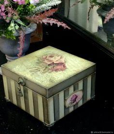 """Купить Большая шкатулка для украшений """"Нежность роз"""" - шкатулка, шкатулка для украшений, шкатулка ручной работы"""