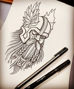 I would do this kinda thing erryday if I could. For Friday hopefully. #tattoo #tattoodesign #drawing #viking #vikingtattoo #norse #odin #beard #neotrad #traditionaltattoo #bournemouth
