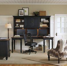 U Desk and Hutch