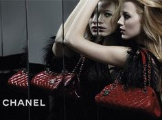 Look familiar? Chanel duplicated Blake's image in the campaign for their Mademoiselle handbag line