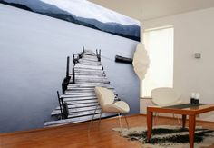 Fototapete Bergsee von K&L Wall Art | wall-art.de
