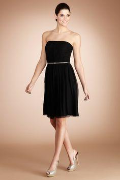 Donna Crinkle dress in black, brides maid dress.