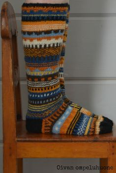 Wool Socks, Knitting Socks, Fashion Socks, Knitting Designs, Handicraft, Mittens, Knit Crochet, Arts And Crafts, Slippers