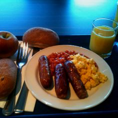 Full English breakfast in London