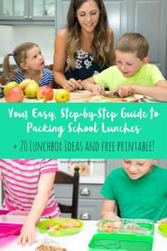 ANXIOUS ABOUT PACKING SCHOOL LUNCHES? HERE'S YOUR STEP-BY -STEP GUIDE, PLUS A FREE PRINTABLE 20 LUNCHBOX IDEAS!  This post was written in partnership with my friends at Baby Gourmet. As always, all opinions are my own. Most of us are gearing up for back to school, replenishing our kids' closets,