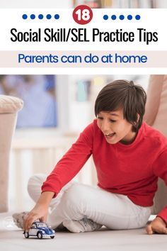 Being at home doesn't mean that all social skills practice or Social-Emotional Learning (SEL) has to stop. Here are 18 tips for working on these skills at home. Counseling Activities, Speech Therapy Activities, Articulation Activities, School Counseling, Toddler Activities, All Family, Family Game Night, Family Games, Social Emotional Learning