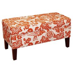 Floral-print storage bench with a pine wood frame and foam cushioning. Handmade in the USA.   Joss & Main