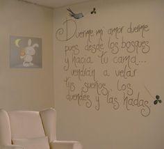 bonita frase para el cuarto de un niño