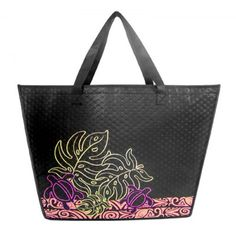 Insulated Tropical Eco-Totes - Honu Monstera
