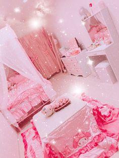 Cute Room Ideas, Cute Room Decor, Pastel Room, Pink Room, Girl Bedroom Designs, Room Ideas Bedroom, Kawaii Bedroom, Otaku Room, Pink Bedrooms