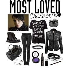 Salander by perpetto on Polyvore featuring moda, R13, Forever 21, Alexander Wang, Trend Cool, Lauren Klassen and Gorgeous Cosmetics