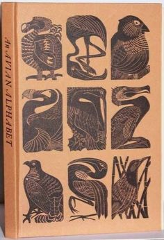 Not quite Celtic - But oh, so Wonderful! An Avian Alphabet; with linocuts by Elizabeth Rashley - Caliban Books - Specializing in Literary First Editions Book Cover Art, Book Cover Design, Book Design, Design Art, Illustrations, Book Illustration, Motifs Art Nouveau, Tatto Old, Creation Art