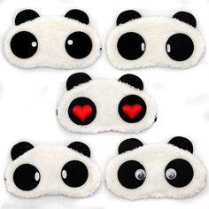 Barato Frete grátis Panda dormir máscara de olho sombra soneca venda caricatura…