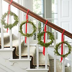 Not just for the doorstep, wreaths are making appearances in every corner of the house this season.