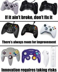 Video game controllers: Sega, what were you thinking? Video Game Memes, Video Games Funny, Video Game Art, Funny Games, Playstation, Xbox 1, Gamer Humor, Gaming Memes, Gamer Quotes