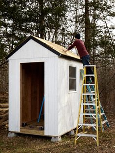 A few key tools, $1500 in materials, and three days' worth of sweat equity turned what could have been a pedestrian building project into a sturdyand stylish8 x 6foot shed.
