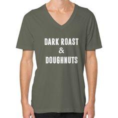 Dark Roast and Donuts V-Neck (on man) Shirt