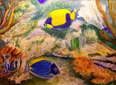 GALERIA PALOMO MARIA: PECECITOS...... Painting, Mermaid, Scenery, Painting Art, Paintings, Painted Canvas, Drawings