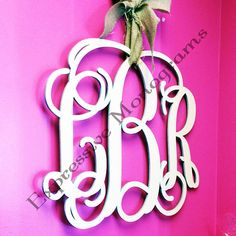 22 INCH Wood Monogram Letter - Great for Wedding, Door and Wall Decor - Free Preview- Unpainted