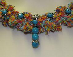 Anna Fringed Fabric Jewelry Set Pattern - DIGITAL DOWNLOAD $6.50