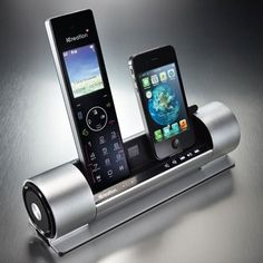 Dual Dock iPhone/iPod Speaker with Bluetooth DECT Phone
