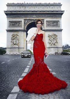 mermaid red arc de triomphe ahhh