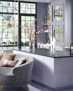 14 Calming Colors - Soothing and Relaxing Paint Colors for Every Room Calming Paint Colors, Wall Colors, House Colors, Purple Kitchen, Purple Rooms, Teen Girl Rooms, Tiny House Movement, Decoration, Beautiful Homes