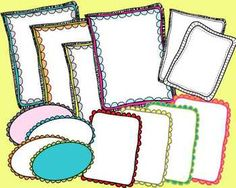 This pack includes 20 doodle frames for personal or commercial use