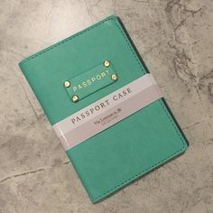 Passport case!! Teal & gold! Perfect for a gift! Passport case! Teal & gold! NWT. Via Lorenzo n.26 brand. Interior is dark gray with two slit pockets to hold the front and back covers of passport. So cute and perfect for giving as a gift! (Raspberry color case also available.) Via Lorenzo n.26 Accessories