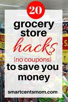 How to save money on groceries without using coupons! I hate cutting coupons, but these ways to save money on groceries are easy! via /https/://www.pinterest.com/smartcents/