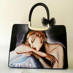 Borsa dipinta a mano La Dormiente -Tamara de Lempicka