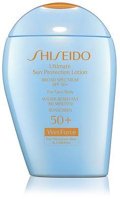 Shiseido Ultimate Sun Protection Lotion for Sensitive Skin & Children Broad Spectrum SPF 50+ WetForce