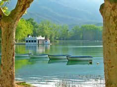 Estany de Banyoles, Spain.  We cycled around this lake