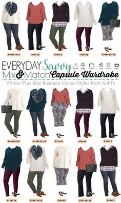a5725c4cb76 Plus Size Business Casual Capsule Wardrobe for Winter