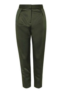 Structured Twill Peg Trousers