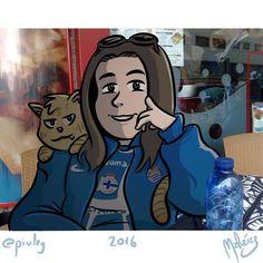 Hermana #: #gato #cat #woman #mujer #futbol #soccer  #hermana #sister #deportivo #realscoiedad #neko #illustration #draw #sketch #drawing #art #artistsoninstagram #dailysketch  #cute #adorable #fanart  #color #digital #digitalpainting #digitalart