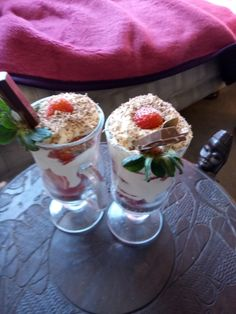 We enjoyed having strawberry and cream with kit-kat on the top,