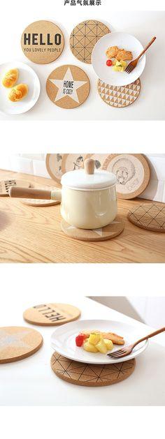 Alibaba グループ   AliExpress.comの マット&パッド からの ロット耐熱木材ラウンドシェイプコルクコースター茶飲料ワインコーヒーカップマットパッドテーブルの装飾 中の ロット耐熱木材ラウンドシェイプコルクコースター茶飲料ワインコーヒーカップマットパッドテーブルの装飾